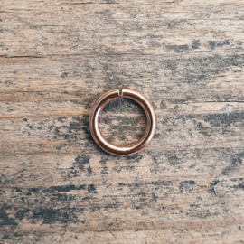 DQ metaal ROSE GOLD open ringetje 4,5 mm 1mm dik zware kwaliteit 50 stuks (B05-004-RG)