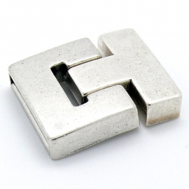 DQ metaal magneetsluiting T-shape maat 29x36mm gat 3x25mm (B07-073-AS)