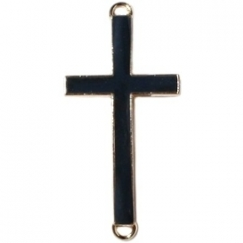 GOUD Tussenzetsel kruis 23x46mm kleur black (BK16003)
