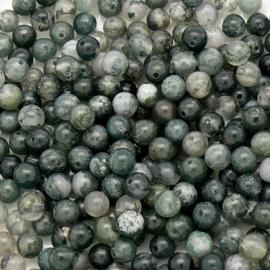 natuursteen kralen - Moss Agate - rond 4mm (10 stuks)