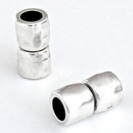 DQ metaal magneetsluiting hamerslag voor 8mm rond leer maat 11x22mm (B07-048-AS)