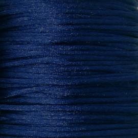 satijnkoord 2mm 5 meter kleur donkerblauw