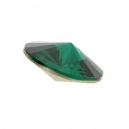 swarovski puntsteen 1122 - rivoli SS47 10,5mm emerald