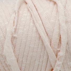 Gipsy koord - licht elastisch textielgaren - ongeveer 20mm breed - lengte 1m - kleur fuzzy wheat (GIPSY B-04)