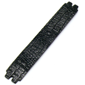 platte leerband 29mm breed kleur Croco Zwart lengte 15cm (OL-47)