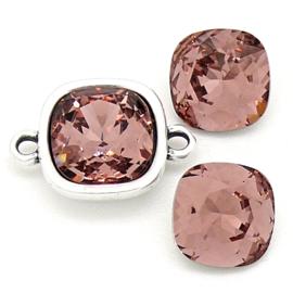 swarovski vierkante steen 4470 - 10mm - blush rose (BSSQ-003)