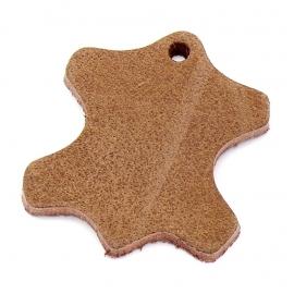 DQ leather gestanste huid 45mm - dik 4,5mm kleur buffel natural (ST-HUID-002)