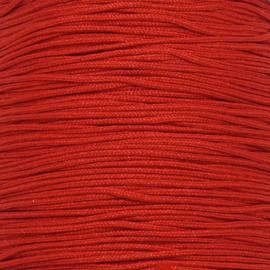 mousetailkoord 0,7mm (dun satijnkoord) - kleur rood -  5 meter (BMT-14)