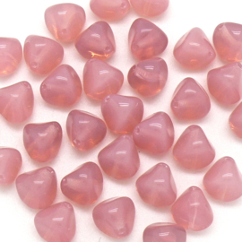 (BJRO-004) glaskraal nugget 10x11mm col. 1110-71000 kleur Milky Pink - 5 stuks