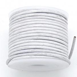 DQ rond leer 1,5mm - kleur White - 1 meter (BRL-01-32)
