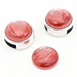 polariscabochon pearl 12mm - kleur shine vintage rose (POL-002-010)
