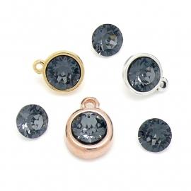 swarovski puntsteen SS39 8,5mm crystal silver night