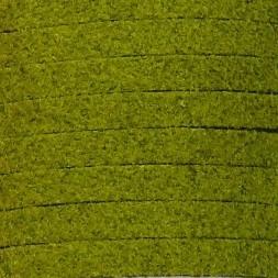 imitatie suede veter 3mm breed 90cm lang nr. 23 mosgroen