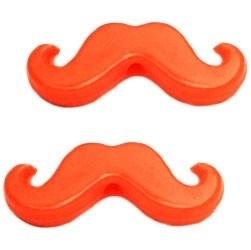 moustachekraal ACRYL kleur NEON ORANJE (BK14912)