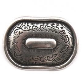 10-0100  concho met pin ovaal 24x35mm