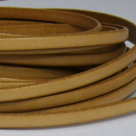 leren band smal 5mm italian natural - 20cm