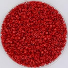 DB0723 Miyuki Delica 11/0 - 5 gram - kleur Opaque Red
