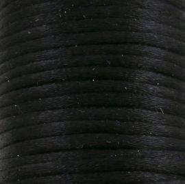 satijnkoord 2mm 5 meter kleur zwart