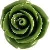 kraal roos 11 mm licht olijfgroen (BK7084)