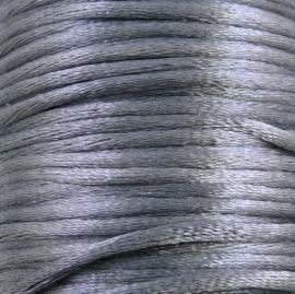 satijnkoord 2mm 5 meter kleur grijs