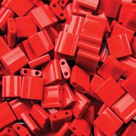 TL5-0408 Miyuki Tila 5x5mm - 5 gram - kleur Opaque Red