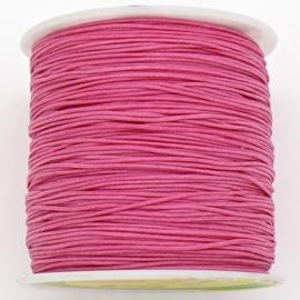 mousetailkoord 0,7mm (dun satijnkoord) - kleur hot pink - 5 meter (BMT-19)