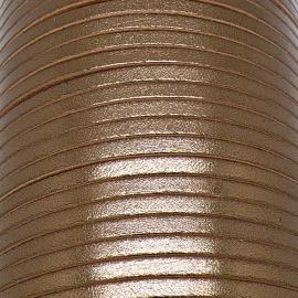 soepele lederen band smal 5mm - dik 2mm - kleur metalic brons - 20cm (PL05-028)