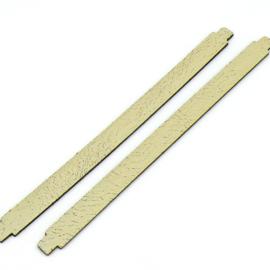 leren band 14mm breed kleur Goby Vanilla - lengte 19cm (OL-21)