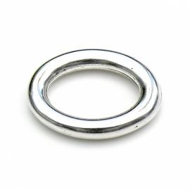 DQ metaal ovaal gesloten ring 24x30mm - binnenmaat 14x20mm (B05-028-AS)
