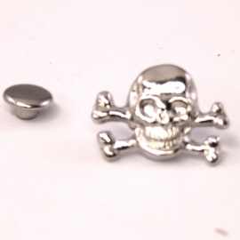 stud skull 13x18mm (B09-002-AS) - 5 stuks