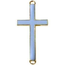 GOUD Tussenzetsel kruis 23x46mm kleur blauwgrijs (BK15995)
