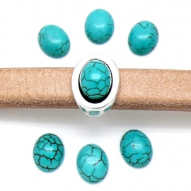 cabochon turquoise 8x10mm