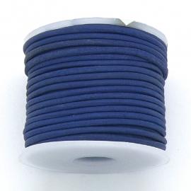 DQ rond leer 1,5mm - 1 meter - kleur vintage dark blue (BRL-01-31)