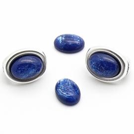 polariscabochon pearl 8x10mm - kleur dark blue pearl (POL-003-007)