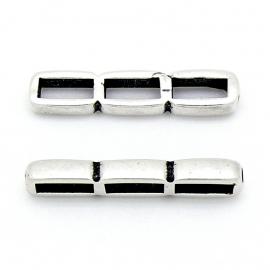 DQ metaal verdeler rechthoek 3 gaten maat 8.5x39mm (gaten 4x10mm) (B04-120-AS)