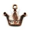 DQ metaal KOPER bedel kroontje `princess` 18mm (BK900)