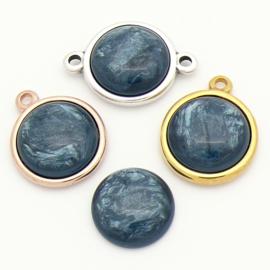 cabochon polaris pearl rond 20mm kleur Denim Blue (CAB-20-014)