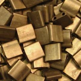 TL5-2006 Miyuki Tila 5x5mm - 5 gram - kleur  Matte Metalic Dark Bronze