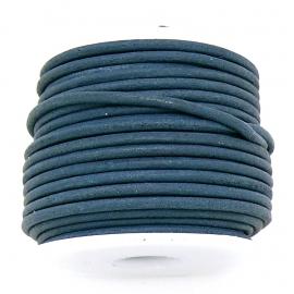 DQ rond leer 1,5mm - kleur Royal vintage dark blue- 1 meter (BRL-01-35)
