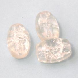 (BJW001) glaskraal crystal crackle ovaal 10x14mm