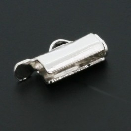 Miyuki eindkap 9mm breed Silverplated (AB67330)