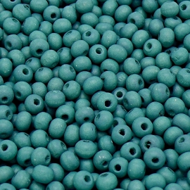 houten kraal 6mm kleur jeans blue (BHK-06-07) - 60 stuks