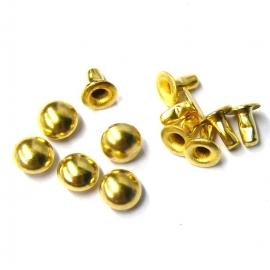 holniet goudkleur 6mm bol rond (SD14247) - 10 stuks