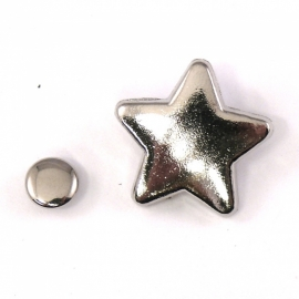 stud sherif star 19x19mm (B09-003-AS) - 5 stuks