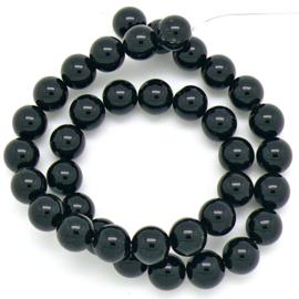 edelsteen kraal 10mm - black Agate - 1 stuks (BJ10-007)