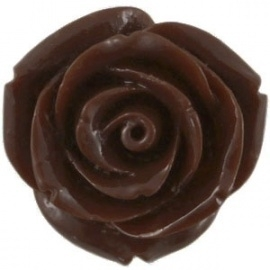 kraal roos 15mm donker bruin (BK9081)