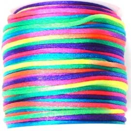 satijnkoord 2mm 5 meter kleur regenboog no. 01