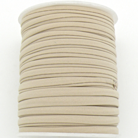 Habotai elastisch zijdekoord - kleur NavajoWhite - 3x5mm - lengte 2 meter (no 16)