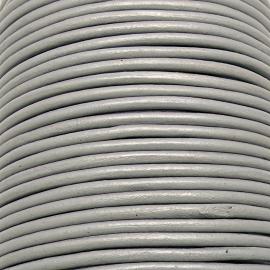 DQ leer 4mm rond  (1 meter) kleur Steel Grey (MCR33)