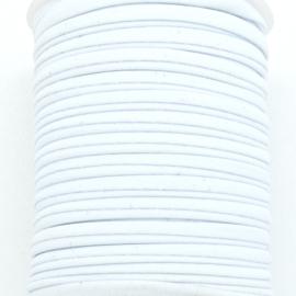 Habotai elastisch zijdekoord - kleur White - 3x5mm - lengte 2 meter (no 01)